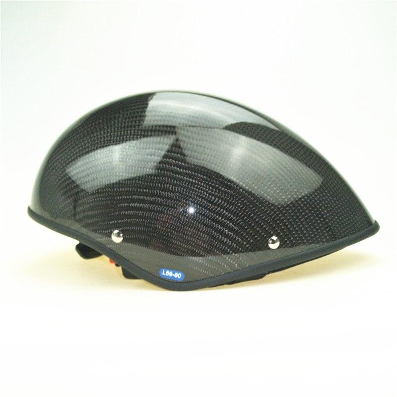 Capacete parapente de carbono real en 966 habilitado meia face verão paramotor capacete fábrica diretamente venda