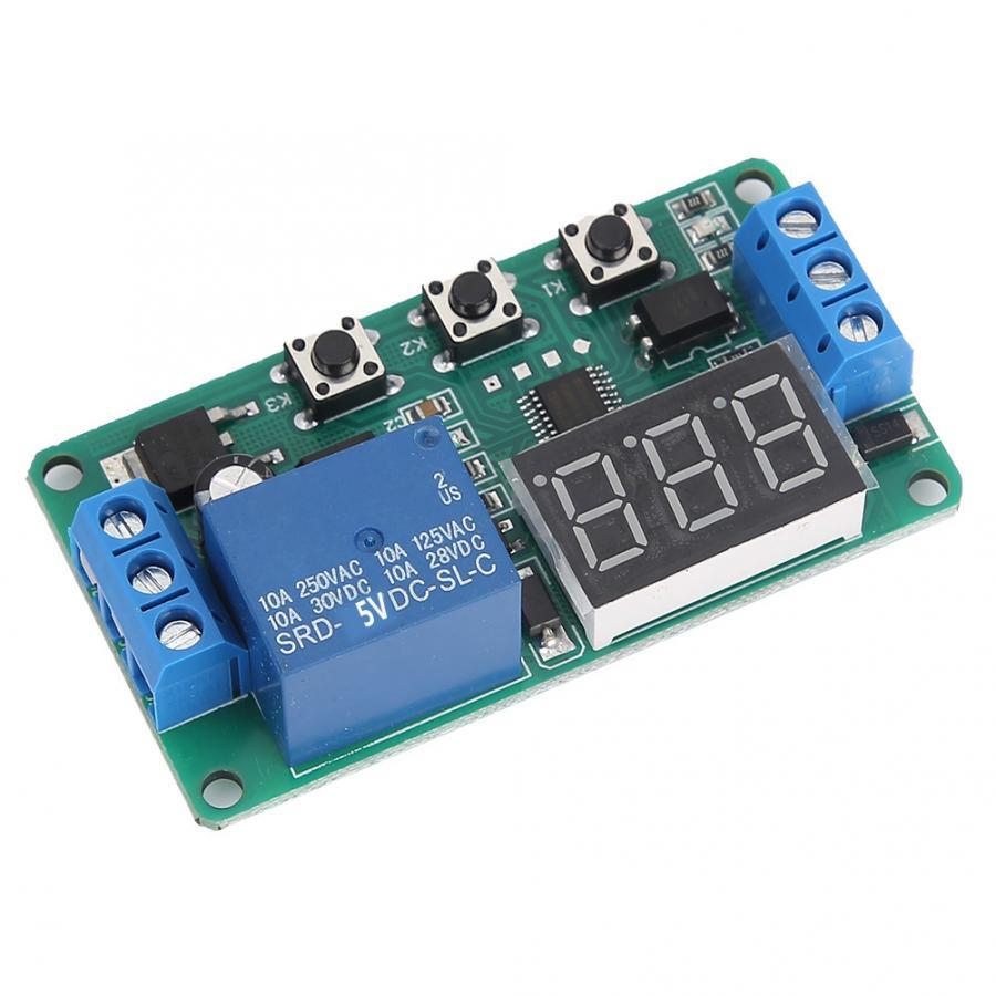 Minuterie à canal unique 5V/12V cc   Commutateur de commande, Module de relais, Cycle de déclenchement, minuterie réglable, relais
