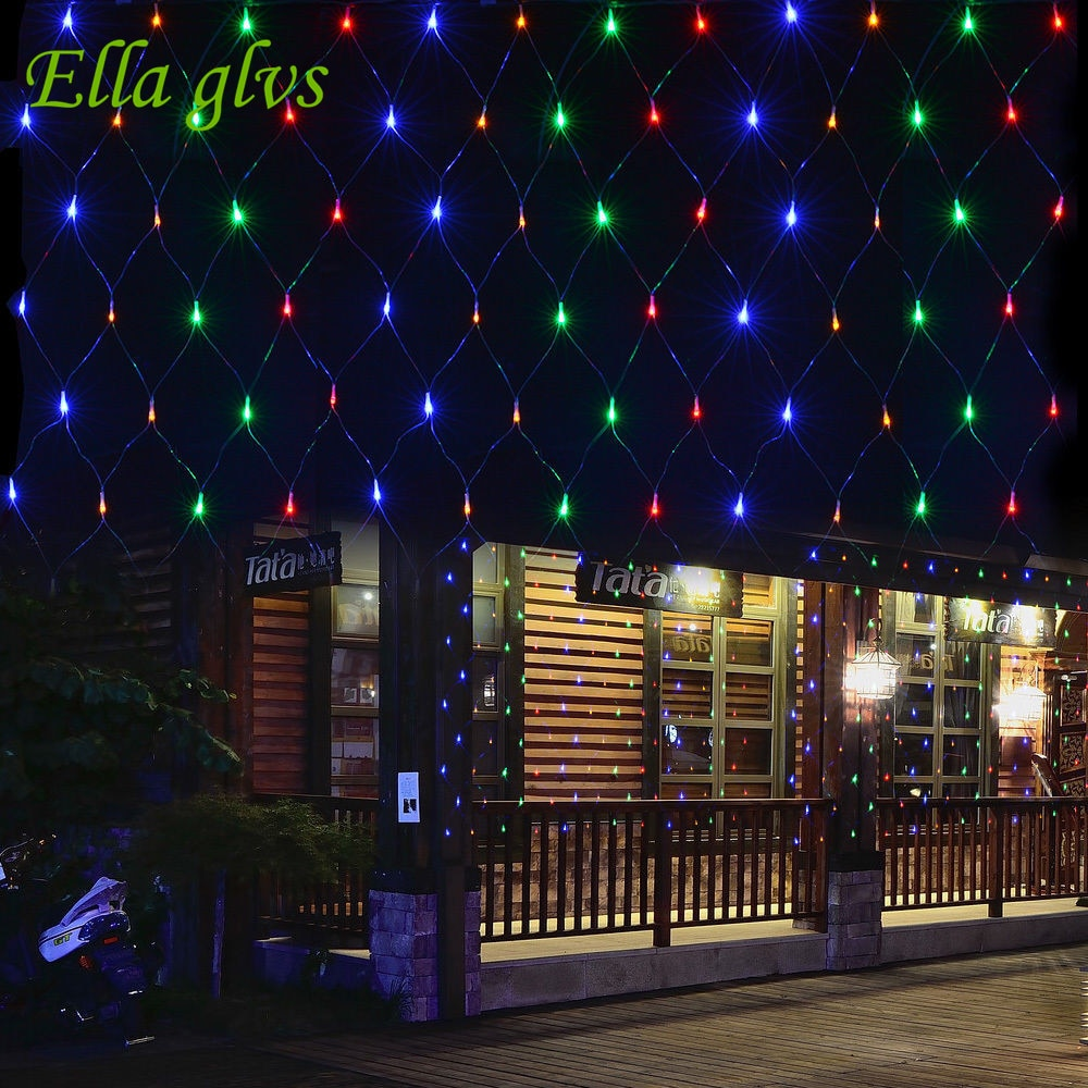 Cadena de luces 3M x 2M 200 LED de malla de diseño enlazable Ideal para interiores exteriores jardín del hogar fiesta de Navidad boda