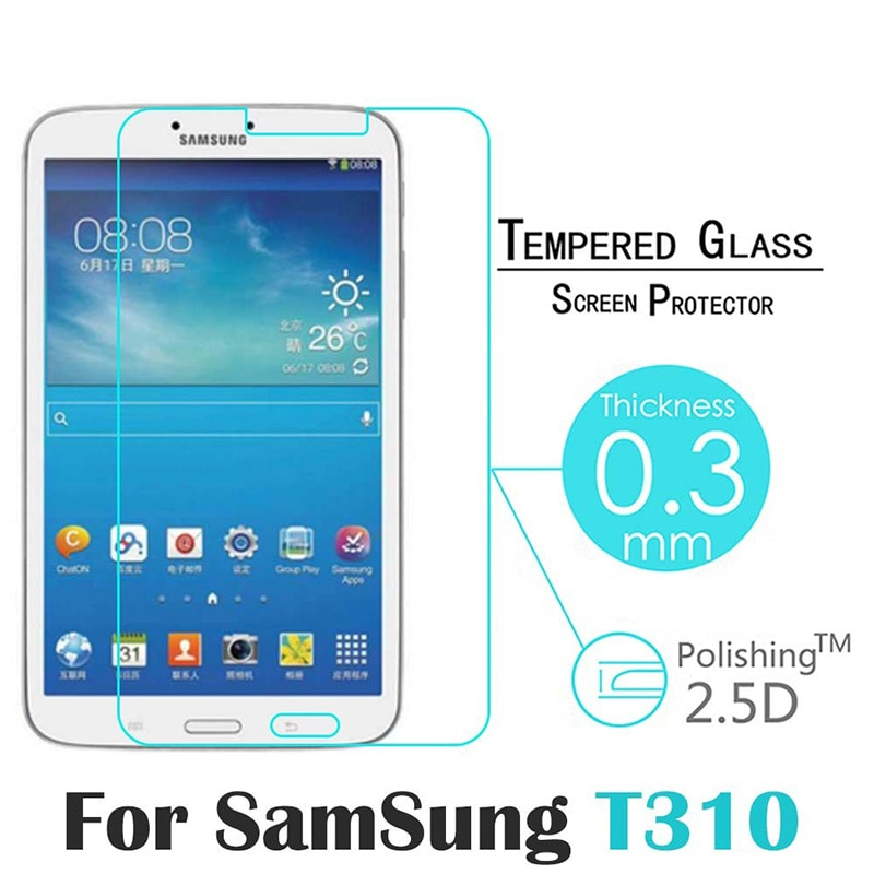 9h 2 5d tempered glass for samsung galaxy tab 3 t310 t311 8 screen protect clear cover for sm t310 sm t311 protector film 0 3mm 9H 2.5D Tempered Glass For Samsung Galaxy Tab 3 T310 T311 8 Screen Protect Clear Cover For SM-T310 SM-T311 Protector Film 0.3MM