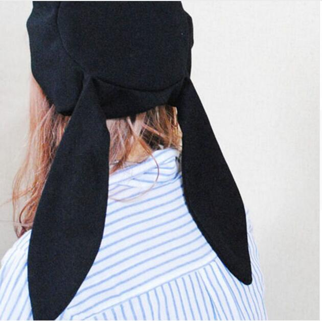 50pcs/lot! Long Ears Painter Cap Fashion Lolita Style Solid black Hat Wholesales new