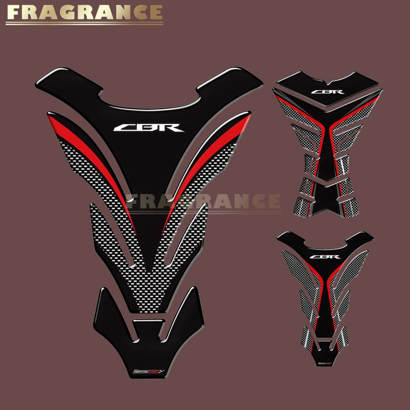 3D Rubber Sticker Motorcycle Emblem Badge Decal  Tank FOR Honda CBR 250RR 600RR 900RR 1000RR 650F 500R Fireblade