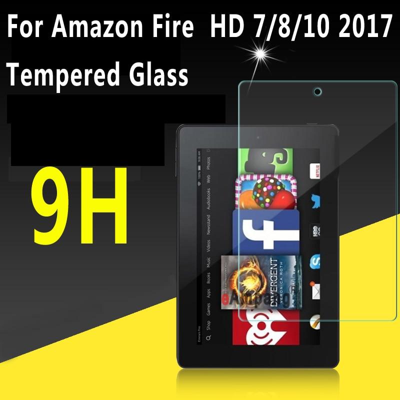Прозрачное закаленное стекло для Amazon Fire HD 10 2019 2017 Защита экрана для Fire HD 8 2017 чехол для Amazon Fire 7 2017