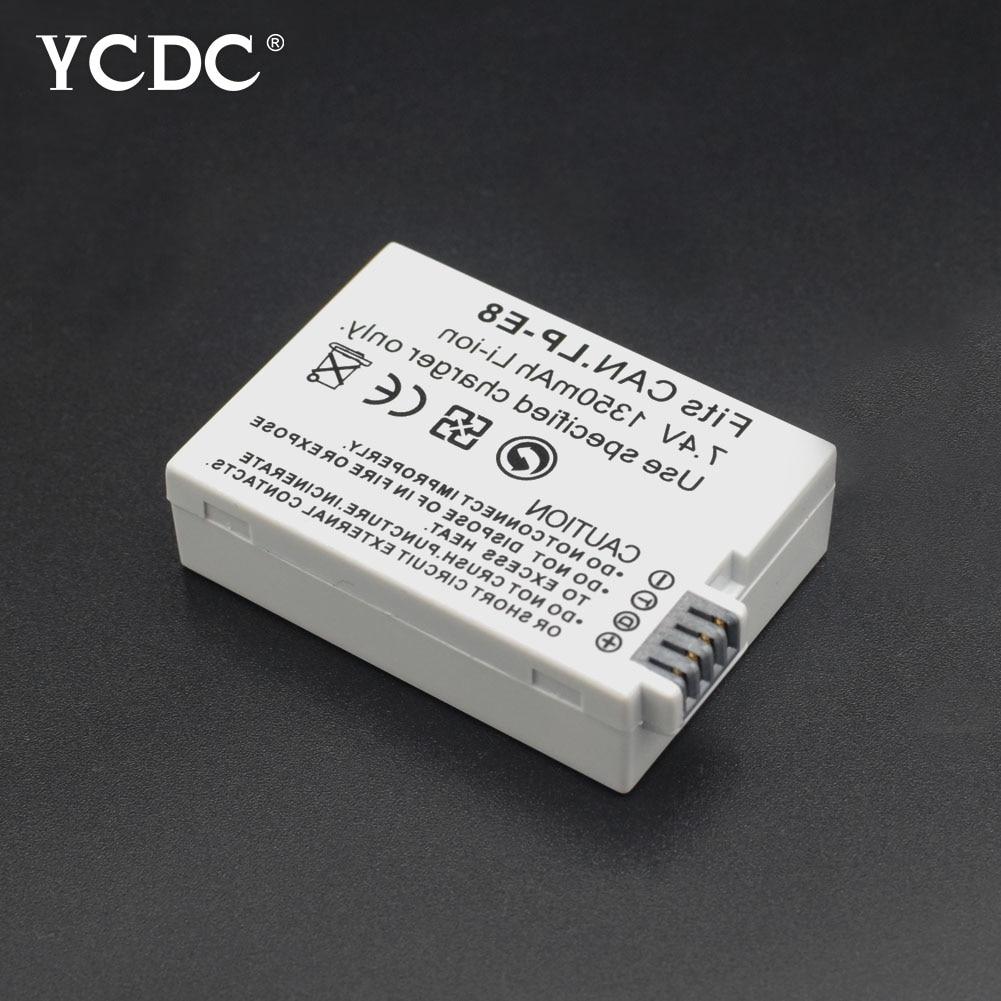 YCDC, 1 unidad, paquete de batería de LP-E8, batería LPE8 LP E8...