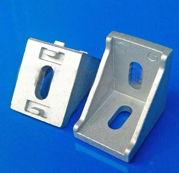 20 قطعة من الألومنيوم ، زاوية تركيب 3030 ، أقواس زخرفية ، ملحقات جانبية من الألومنيوم ، موصلات L.