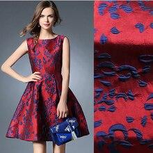 140cm szerokość francja importowane metalowe żakardowe tkanina brokatowa, 3D barwiona żakardowa tkanina z przędzy patchwork dla kobiet płaszcz sukienka spódnica