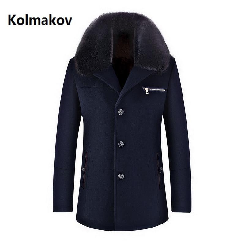 Chaqueta de lana de alta calidad de invierno para hombre, gabardina gruesa de negocios a la moda, abrigo informal para hombre, abrigo clásico para hombre, 6 colores