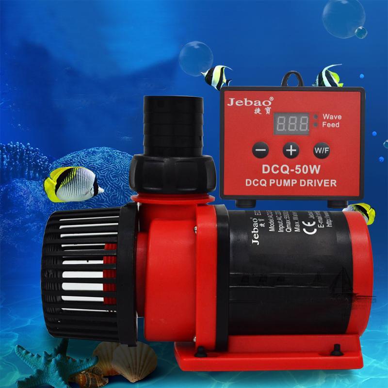 Jebao DCQ-5000/6000/8000 LCD Control de pantalla DC bomba de agua de retorno para el sumidero del acuario marino tanque de peces fabricante de olas 5000L/h