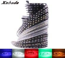 Xnbada-bande lumineuse RGB Led, DC12V, 5050SMD, 60 diodes/m, blanc, blanc chaleureux, rouge, vert, bleu, jaune, IP30(Non)/IP65/IP67
