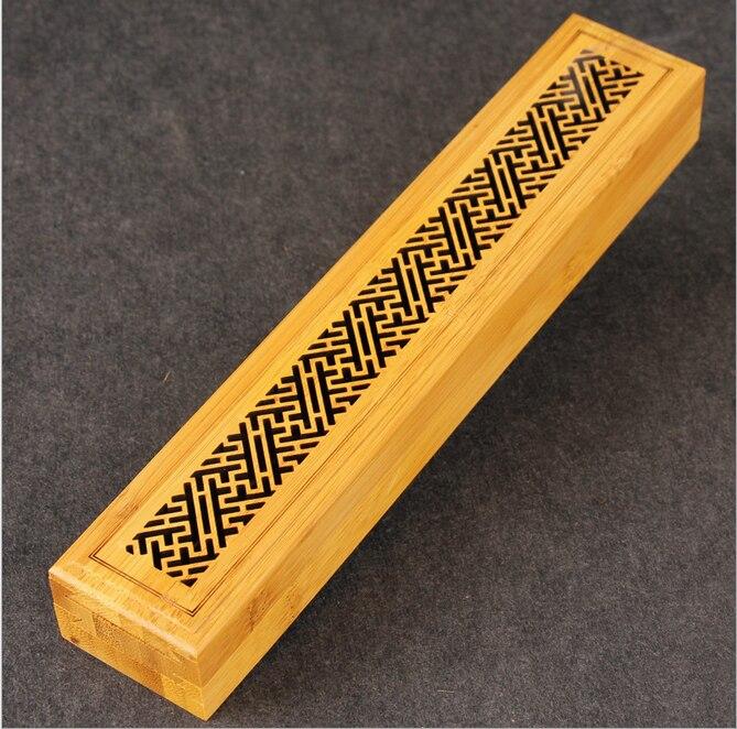 Queimador de Incenso de Bambu Suporte da Vara com Gaveta Chinês Natural Nível Incenso Queimador Joss-vara Caixa Deitado Censer 2