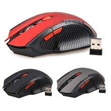 ¡Oferta! Mini ratón óptico inalámbrico de 2,4 Ghz de 2400DPI para juegos de Juegos de PC, nuevo juego, ratón inalámbrico con receptor USB