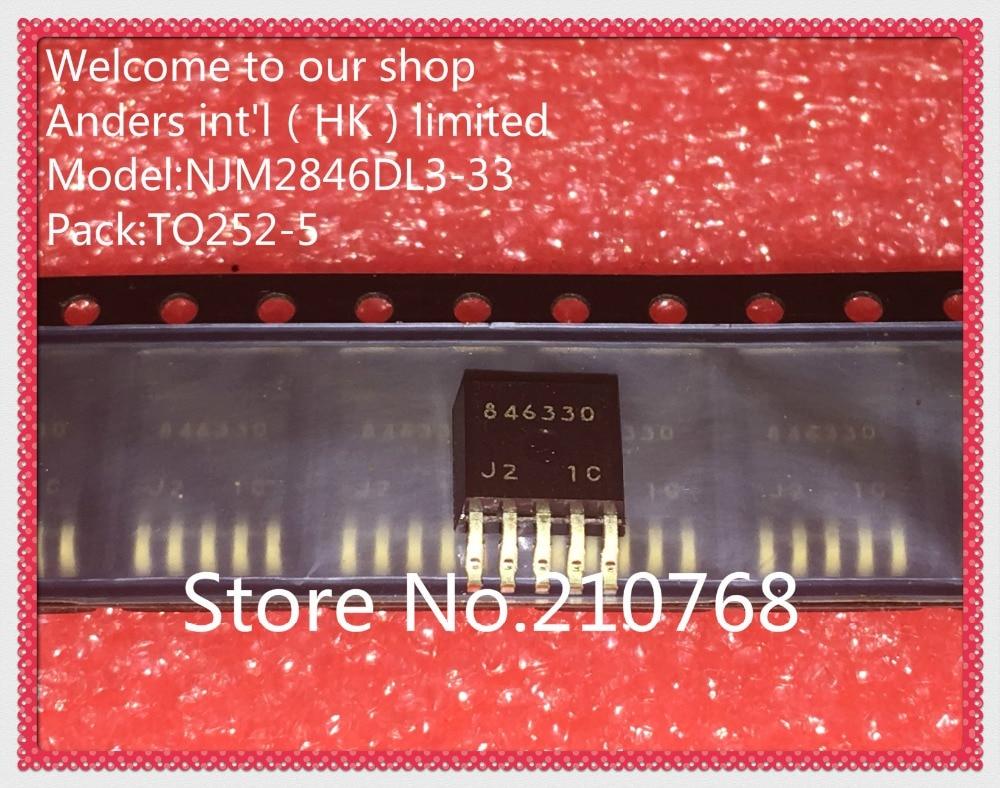 10 pçs/lote NJM2846DL3-33 NJM2846DL3 NJM2846 IC REG LDO 3.3 V 0.8A TO252-5