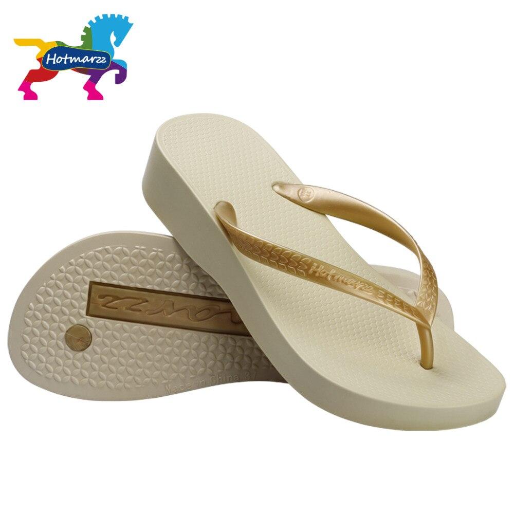 Hotmarzz Zapatos Mujer Plataforma House Slippers Blanco Pantuflas Casual Zapatillas Chanclas Playa Sandalias Flip Flop Mujer Zapatillas de Casa Sandalias de Mujer Verano 2017 Zapatos Mujer Plataforma Sandalias