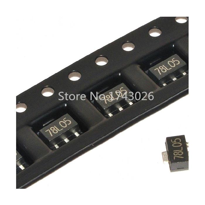 Pengiriman gratis 100 шт./лот в катушке 78L05 5V SOT-89 SMD три терминала регулятор напряжения стабилизатор напряжения хорошее качество и...