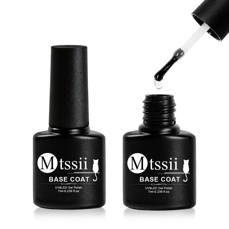 Mtssii 7ml Base Coat Soak Off Gel Nail Polish UV LED Lamp Needed Long Lasting Foundation Nail Gel Va