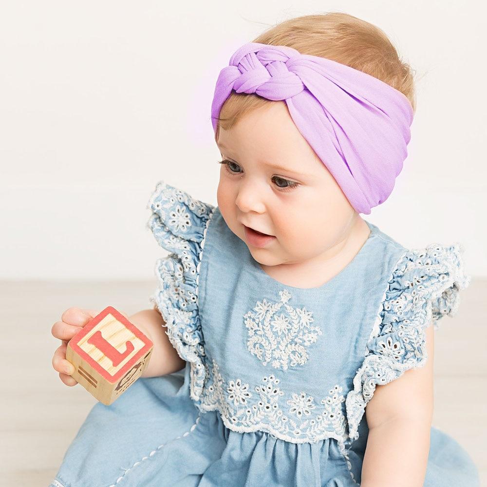 Эластичные повязки на голову FASACC для девочек нейлоновая повязка тюрбан с узлом