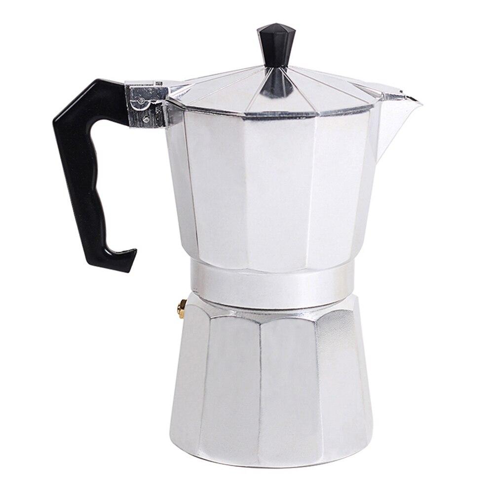 Tipo italiano Octagonal HOGAR DE ALUMINIO Espresso percolador fabricante de filtro de calefacción de café olla perforadora de mano cafetera