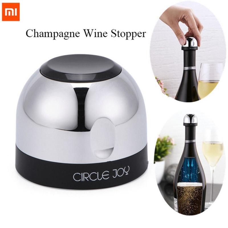 Original Xiaomi Mjia Circle Joy Sparkling Wine Mini Champagne Stopper CJ-JS02 1 / box For Xiaomi Smart Home Kits gift