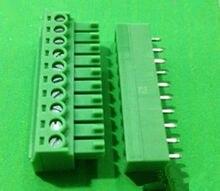 5 STÜCKE 3,81mm Rastermaß Rechtwinklig 10 pin 10 way Schraubklemmenblock steckverbinder