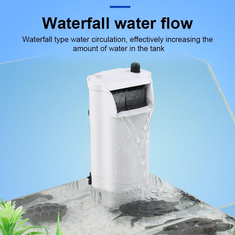 Bomba de filtración de agua, dispositivo de circulación de cascada silencioso para acuario de peceras y tortugas LKS99