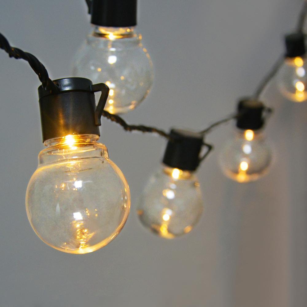 Cadena de luces LED de 2,5 M y 5M para exteriores, luces tipo Hada a prueba de agua, guirnalda G50, bombillas para jardín, Patio, boda, decoración navideña, cadena de luces