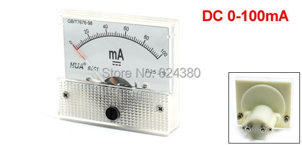 85C1 DC Amperímetro Analógico Painel AMP Current Meter 0-100mA 20mA 30mA 50mA 500mA Ampere Medidor Amperímetro Amperímetro 85C1