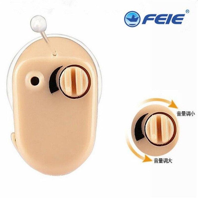 Audífono Mini Kit amplificador de sonido en el oído con pilas de botón tapones para los oídos con caja audífonos utensilios para el cuidado del oído S-900A envío gratis