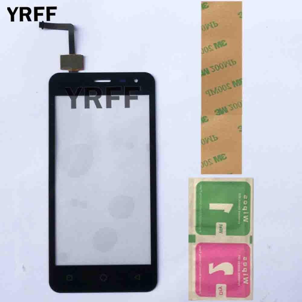 Мобильный Сенсорный Экран 4,5 ''Для Micromax Q415 Canvas Pace Q415 Сенсорная панель дигитайзер Переднее стекло Замена 3M клей