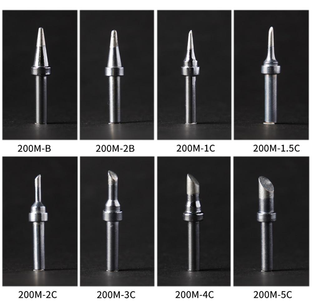 1 Uds. Se pueden aplicar QUICK 203H 204H 205H sin plomo soldadura de cobre punta de soldadura serie 200M cuerno de soldadura de alta frecuencia
