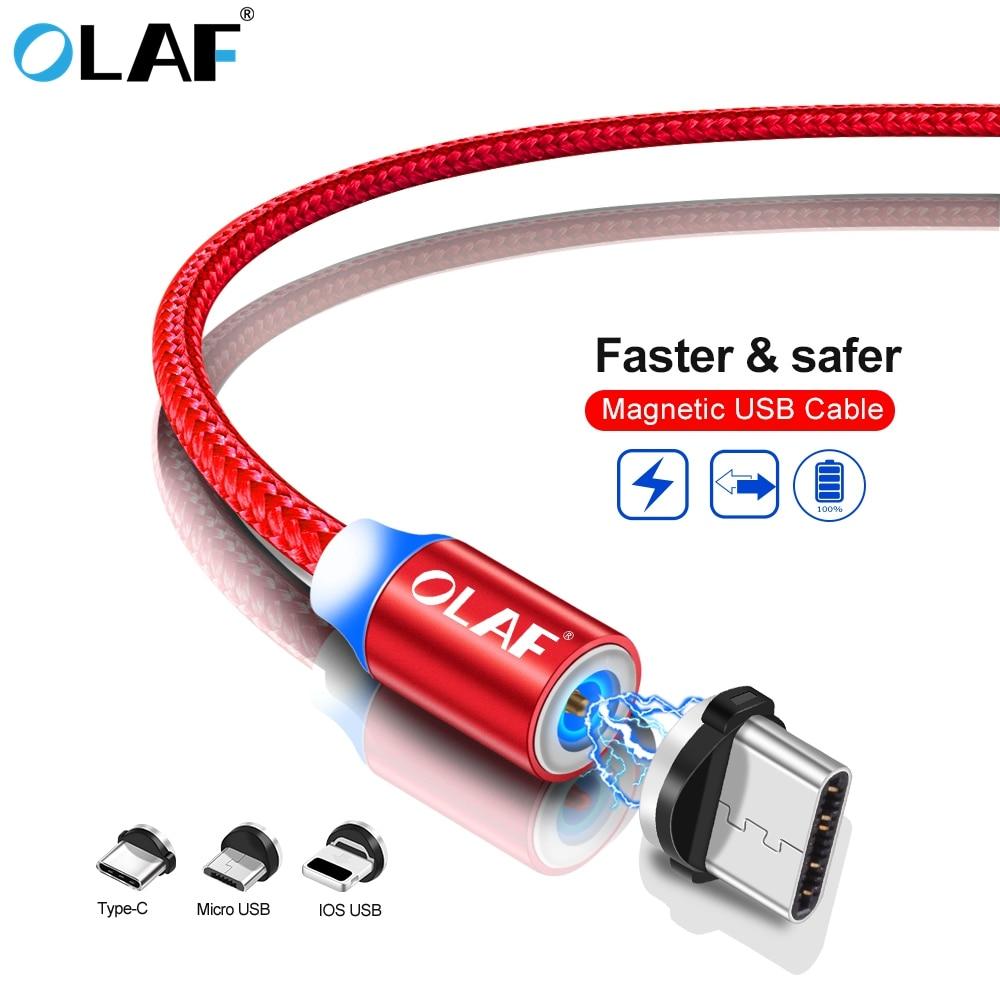 Магнитный usb кабель OLAF для iPhone Type C зарядный Micro USB зарядки данных кабели мобильных
