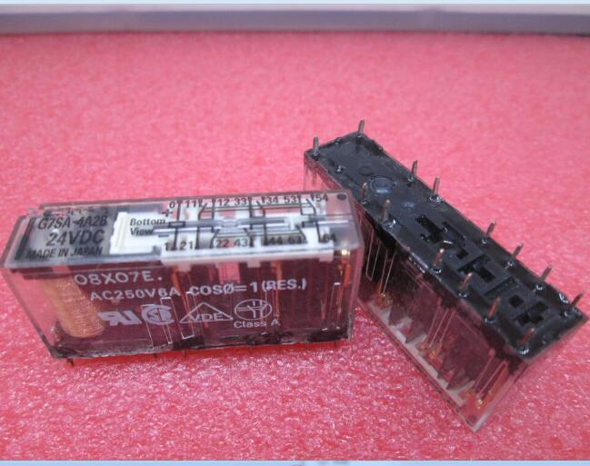 Relé G7SA 4A2B 24VDC G7SA-4A2B-24VDC G7SA-4A2B 24VDC G7SA4A2B DC24V DIP14 2 pçs/lote