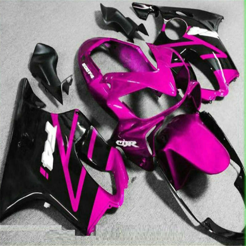 04 06 07 CBR600F4i inyección 05 2005 CBR600 F4i CBR 600 F4i Rosa negro 2004 2006 2007 carenados. kits de aseo y Molde de inyección