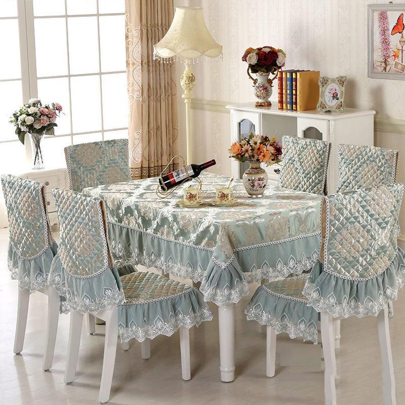 Comedor cubierta de la silla de cojín conjunto hogar europeo mantel de mesa de café mantel de poliéster de algodón Europa Beige de tela de mesa