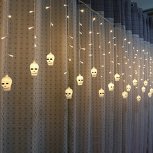3.5 M Hallowen نافذة الستار اليقطين شبح رئيس سلسلة جليد سلسلة LED أضواء مريحة ورائعة المنزلية البنود