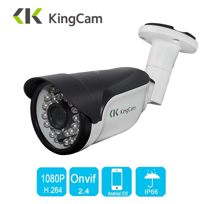 KingCam Metal HD gran angular 2,8mm lente 1080P 25fps marcos al aire libre impermeable cámara IP ONVIF bala seguridad CCTV 2MP IP Cam