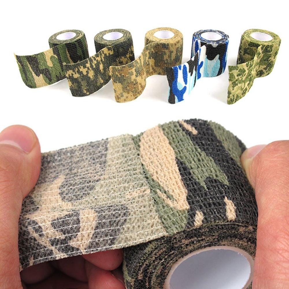 5 cm x 4,5 m ejército Camo caza al aire libre herramienta de disparo camuflaje Stealth cinta impermeable abrigo duradero accesorios #281461