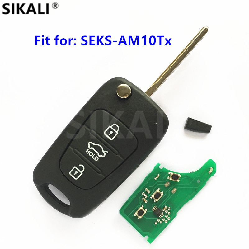 מפתח מרחוק עבור SEKS-AM10Tx עבור CE 0678 ASSY 433-EU-TP Fobik Keyless כניסת מפתח מכונית משדר 433 MHz עבור KIA
