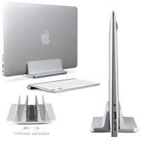Space-saving Aluminum Vertical Stand for Laptop MacBook Pro/Air Thickness Adjustable Desktop NoteBooks Holder Erected