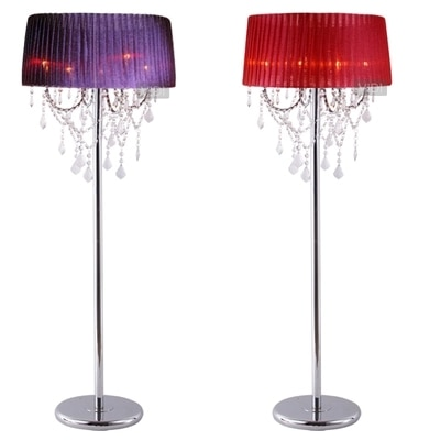 14 color pantalla 4 piezas de bulbo de lámpara de la luminaria lámpara de piso