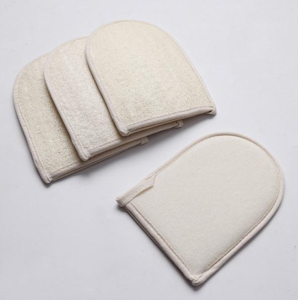 100pcs 20*15CM Natural Loofah Bath Gloves Practical Bathroom Product Back Scrubber Shower Body Exfoliator Scrubber SN1415