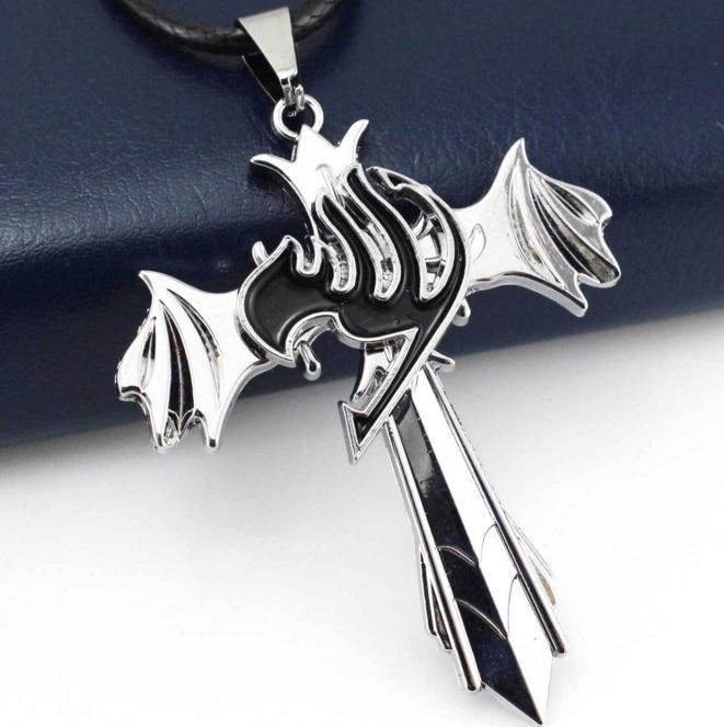 1 шт. креативный хит продаж Сказочный Тайл (Guild), серебряное ожерелье с подвеской в виде крыльев Креста, аниме косплей, Подарочная игрушка, бес...