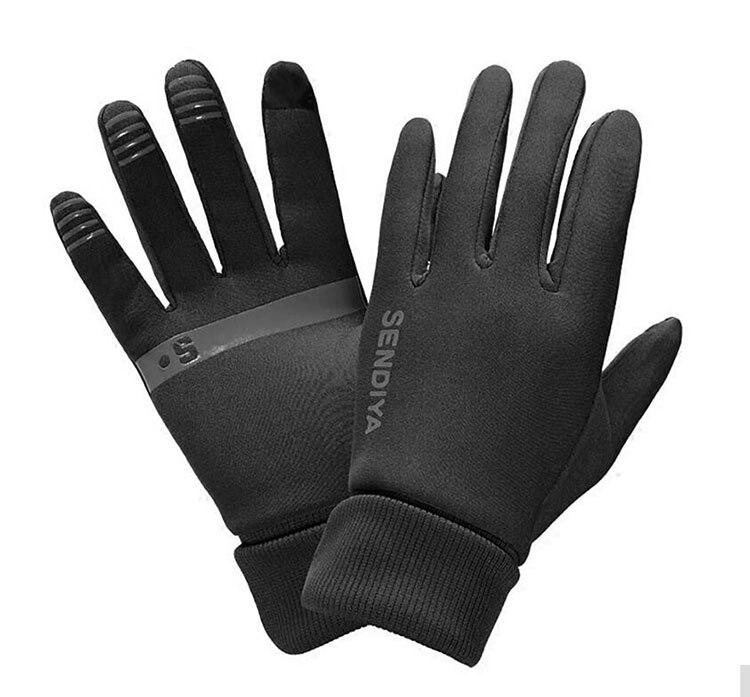 GIEADUN al aire libre polar caliente guantes para correr hombres y mujeres todos los dedos guantes para montar en bicicleta caliente guantes de pantalla táctil