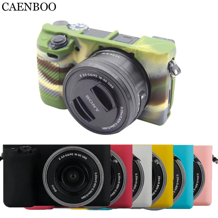 CAENBOO bolsas casos Flexible suave funda de silicona para Sony Alpha A6000...