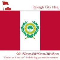raleigh city flag 6090cm 90150cm flag north carolina state 3045cm car flag 3x5ft polyester banner 100d