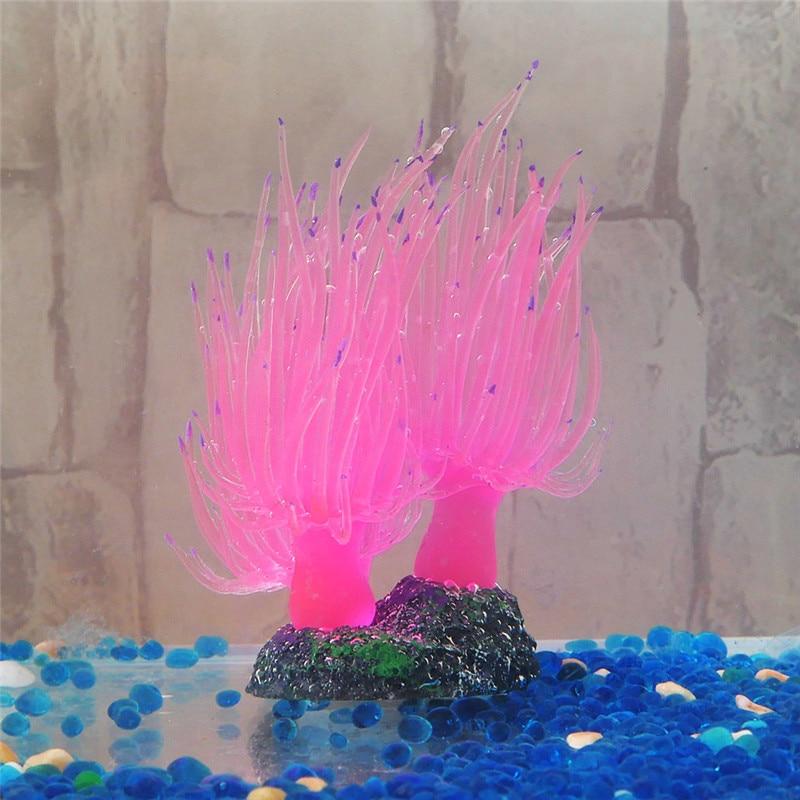 Peces tanque Coral ornamentos acuario Artificial pequeña planta submarina Rosa mar Coral decoración fina para la decoración del hogar de peces