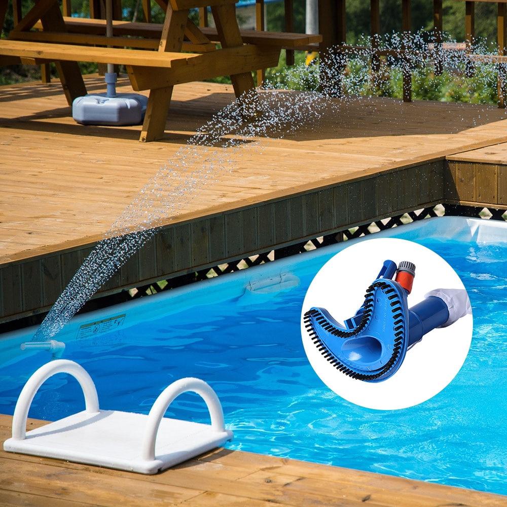 Cabezal de aspiradora de piscina, cepillo de piscina duradero y Flexible, equipo de limpieza, limpiador subacuático, herramienta de limpieza de superficie de Spa de piscina