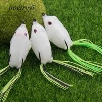 poetryyi fishing lure luminous thunder frog 5 5cm 5cm double hook lure fishing bait frog fishing lures p30