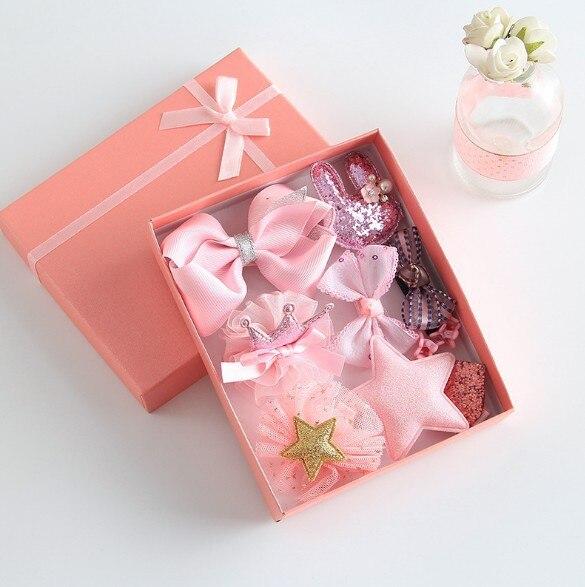 10 En uno de Corea Babyshower caja cinta horquilla Bobby Pin Babygirl niños boda cumpleaños fiesta tomar- casa favores