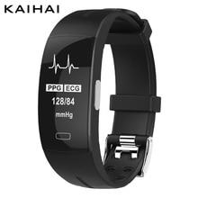 KAIHAI H66 mesure de la pression artérielle poignet bande moniteur de fréquence cardiaque PPG ECG sport bracelet intelligent montre activité de santé fitness tracker électronique bracelet réveil sommeil dispositif port