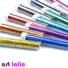 Artlalic 6 bouteilles ongles paillettes Pigment poudre poussière manucure Nail Art Fine paillettes décorations outils Salon corps